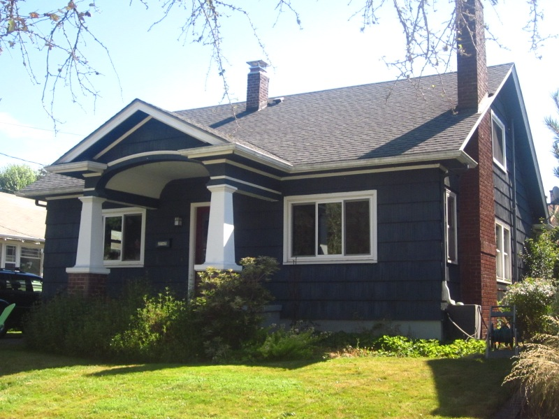 Portland bungalow renovation ne portland old house for Exterior renovations before and after