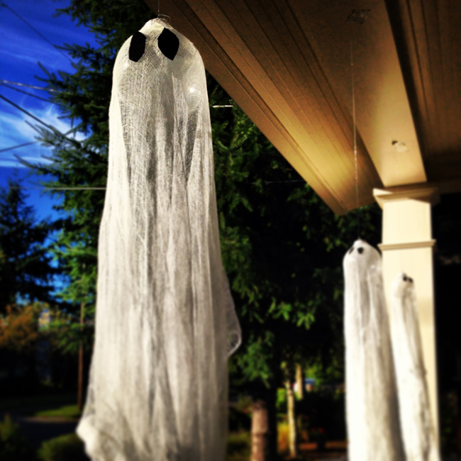 DIY Spooky Ghost Cheesecloth